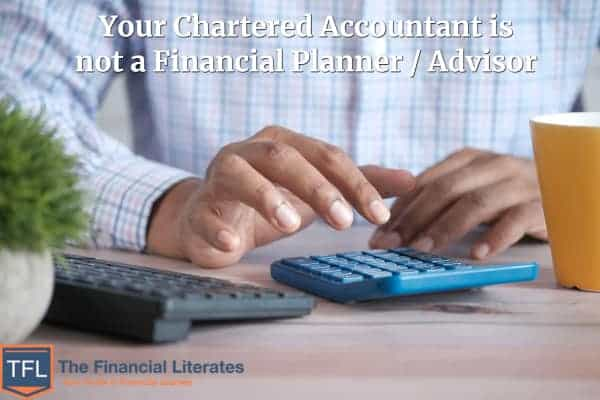 Chartered Accountant is not a Financial Planner